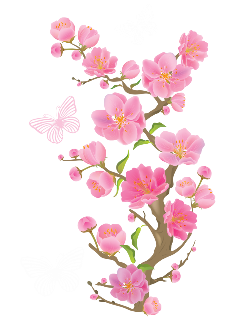 Spring_Branch_with_Butterflies_PNG_Clipart_Picture
